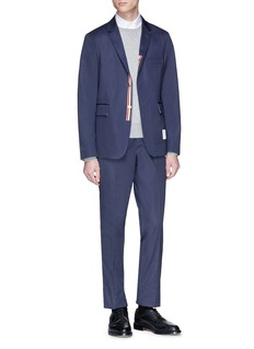 Thom Browne Metallic button twill soft blazer