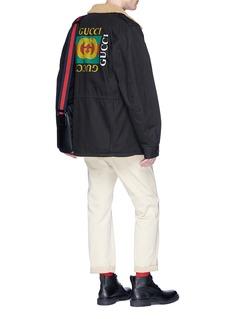 Gucci Logo print padded cotton parka