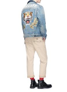 Gucci Tiger appliqué washed denim jacket
