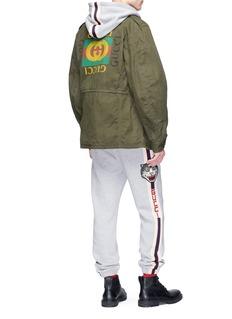 Gucci Logo print washed cotton parka