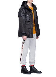 Gucci Tiger appliqué stripe outseam jogging pants
