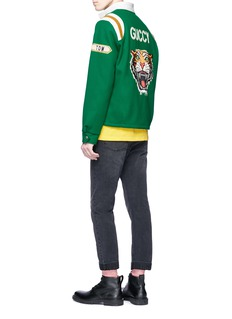 Gucci Tiger appliqué coach jacket