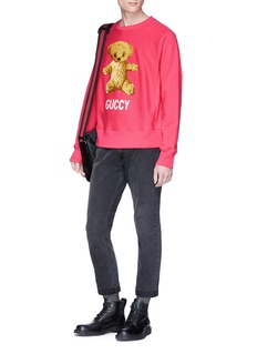 Gucci 'Guccy' teddy bear appliqué sweatshirt