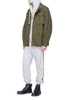 Gucci Logo jacquard zip hoodie