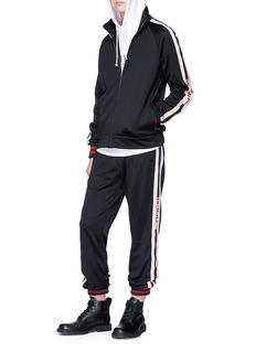 Gucci Logojacquard sleeve track jacket
