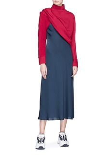 SIRLOIN 'Bukko' asymmetric inverted sleeve sweatshirt