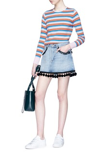 Marc Jacobs Pompom denim mini skirt