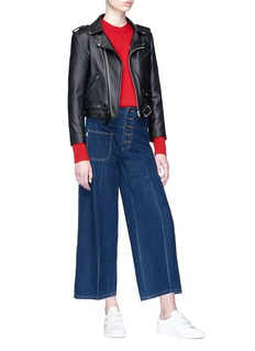 Marc Jacobs Cropped wide leg denim pants