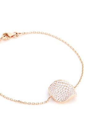 Detail View - Click To Enlarge - Anyallerie - 'Rose Petal' diamond 18k rose gold bracelet