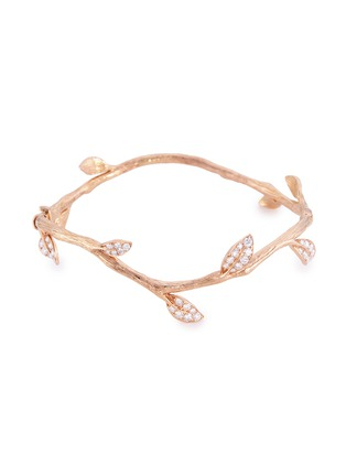 Main View - Click To Enlarge - Anyallerie - 'Entwined' diamond 18k rose gold branch bangle