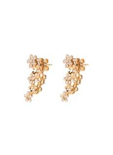 Anyallerie 'Mini Flower' diamond 18k rose gold climber earrings