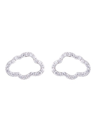 Main View - Click To Enlarge - Khai Khai - Diamond 18k white gold cloud stud earrings