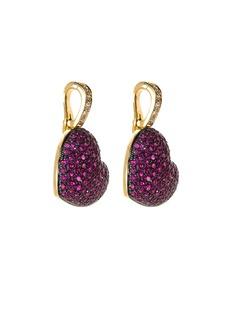 Khai Khai 'Gummy Heart Throb' diamond ruby clip-on charm