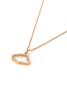 Khai Khai Diamond 18k rose gold cloud pendant necklace