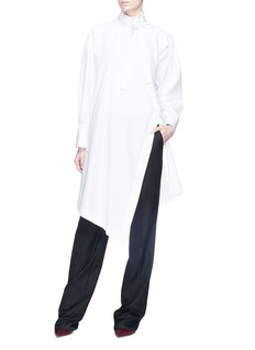 Valentino Bow neck asymmetric placket shirt