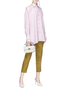 Valentino Cutout shoulder silk satin shirt