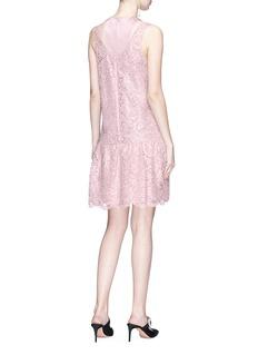 Valentino Racerback Lurex floral lace dress