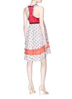 Valentino Floral print patchwork mini dress