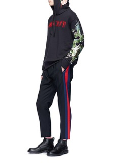 Gucci Web outseam wool-mohair cropped jogging pants