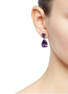 CZ by Kenneth Jay Lane Cubic zirconia pear drop earrings