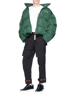 Daily Paper 'Cuffer' logo print puffer jacket