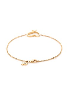 Stephen Webster 'Neon Heart' 18k yellow gold charm bracelet