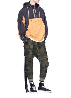 Ben Taverniti Unravel Project  Elastic strap camouflage print cargo pants