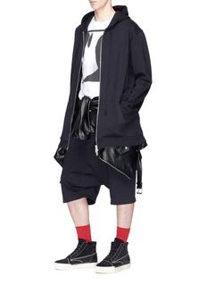 Ben Taverniti Unravel Project  Oversized zip hoodie