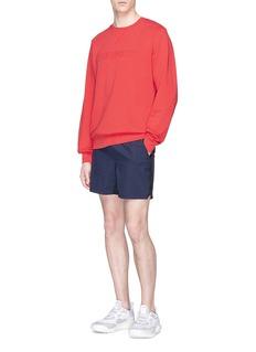 The Upside 'Redford' textured logo print sweatshirt