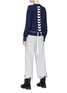 Chris Ran Lin x Lane Crawford Lace-up back brushed sweater