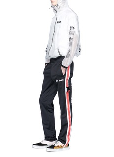 Palm Angels Slogan strap outseam track pants