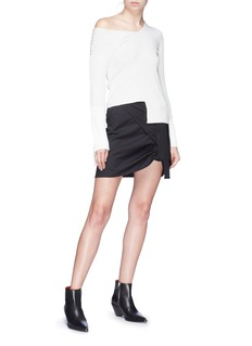 Helmut Lang Asymmetric rib knit sweater