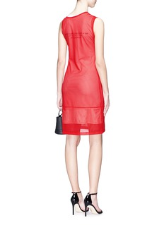 Helmut Lang 'Diamond Head' asymmetric mesh overlay graphic print tank dress