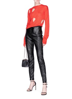 Helmut Lang Cutout wool-silk sweater