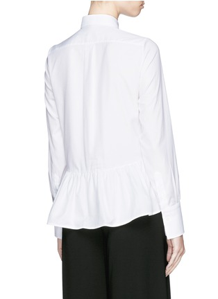 Back View - Click To Enlarge - Valentino - Bib peplum cotton dress shirt