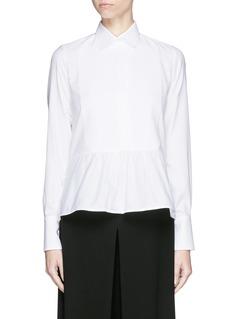 ValentinoBib peplum cotton dress shirt