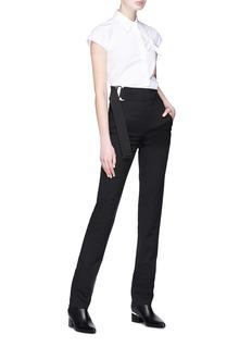 Helmut Lang Knot sleeveless poplin shirt