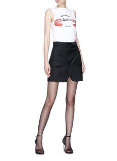 Helmut Lang Mini blazer skirt