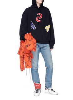 424 'Ransom Note' logo appliqué hoodie
