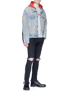 424 Interchangeable hood denim jacket