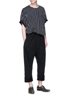 HAIDER ACKERMANN oversize纯棉条纹T恤