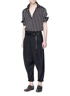 Haider Ackermann Virgin wool pleated hopsack jogging pants