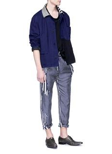Haider Ackermann Stripe collar colourblock twill shirt jacket