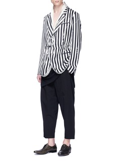 Haider Ackermann Brucite' mix stripe twill soft blazer