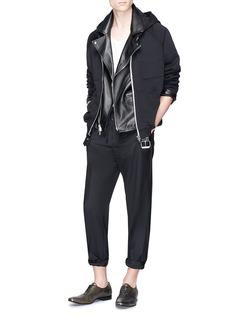 Haider Ackermann Raglan sleeve zip hoodie