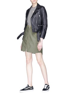 rag & bone 'Maverick' zip high-low military skirt