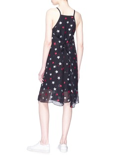 rag & bone 'Sonny' tie back star burnout crepe tank dress