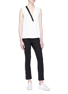 rag & bone 'Simone' button cuff cropped twill pants