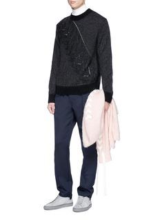 Chris Ran Lin x Lane Crawford Cable panel brushed sweater