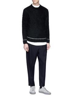 Chris Ran Lin x Lane Crawford Contrast trim brushed sweater